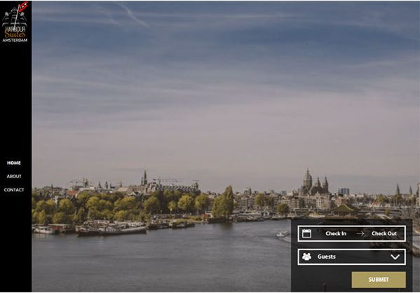 Harbor Suites – mẫu website khách sạn tại Hy Lạp