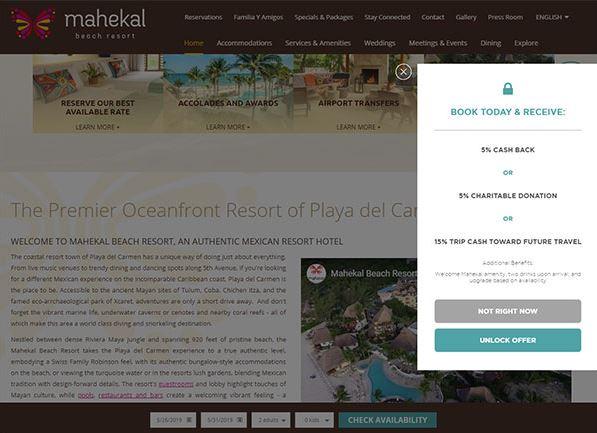 Mahekal Beach Resort – mẫu website resort tại Mexico