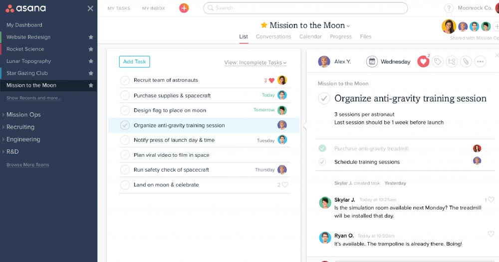 Asana- Ứng dụng quản lý, theo dõi dự án
