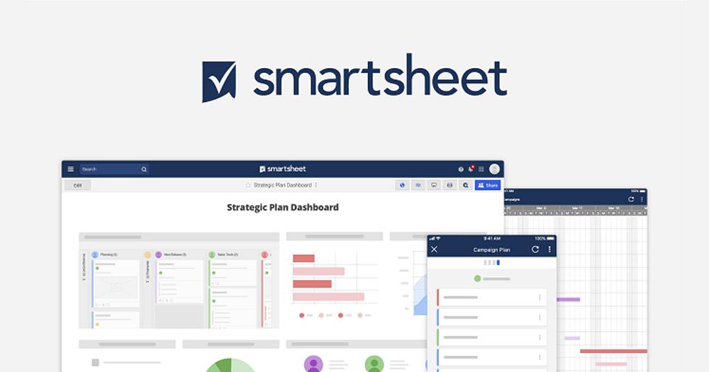 Smartsheet- Ứng dụng quản lý giao diện bảng tính