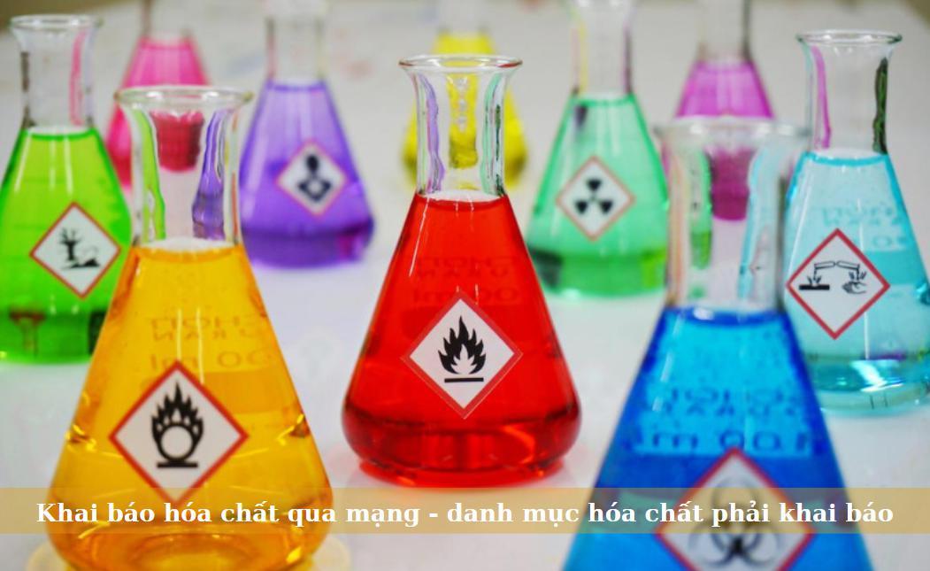 Khai báo hóa chất qua mạng - danh mục hóa chất phải khai báo